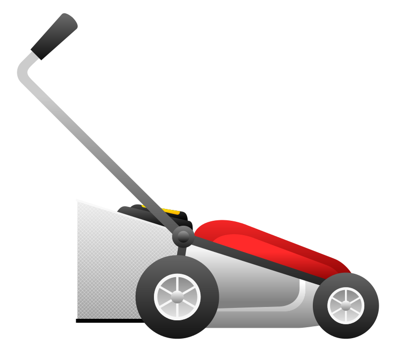 Lawnmower clipart grass cutter. Lawn mower silhouette at