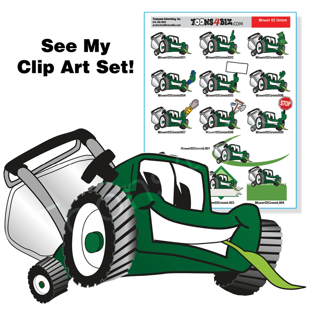 Mowing clipart lawn care. Green mower clip art