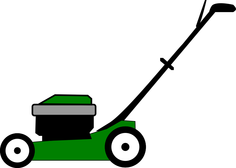 Lawnmower vector. Collection of lawn
