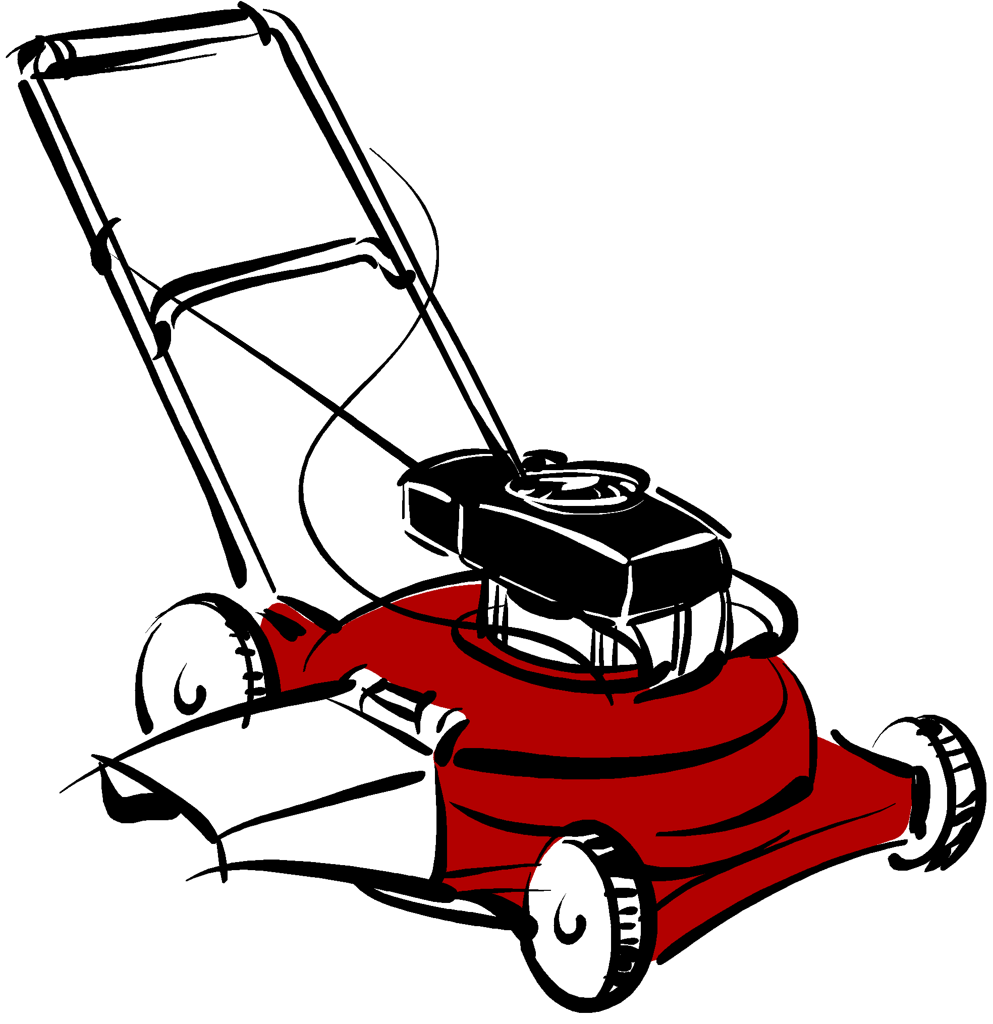 Lawnmower vector transparent. Graphic landscaping maintenance