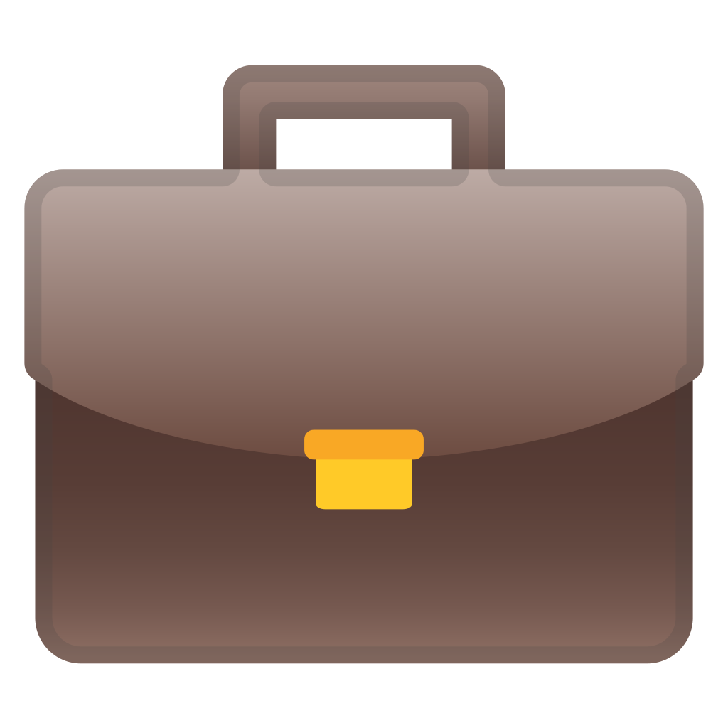 Lawyer briefcase png. Icon noto emoji objects