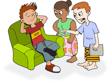 Lazy clipart sofa. For free download and