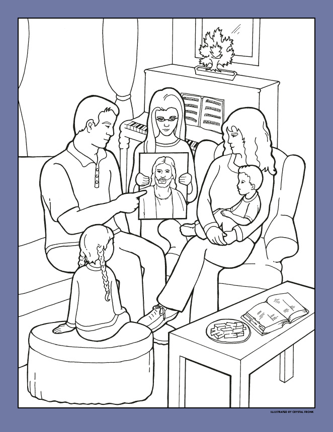 Li lp nfo o. Lds clipart coloring page image library