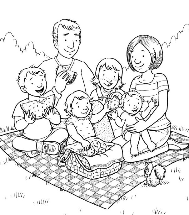 Lds clipart family. Mormon share picnic primary