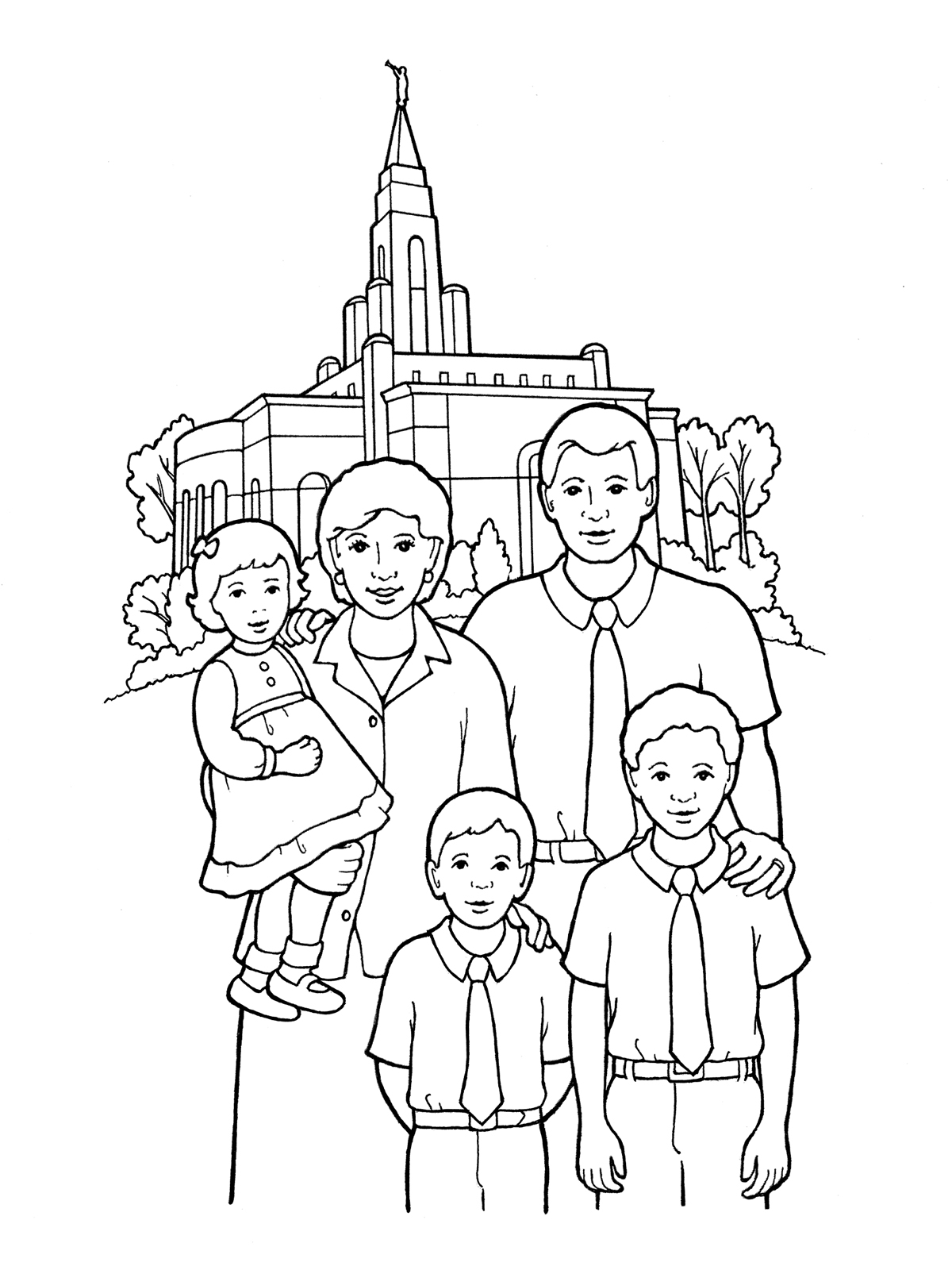 Lds clipart family. Temple sealing