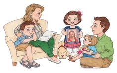 Lds clipart family. Susan fitch design more