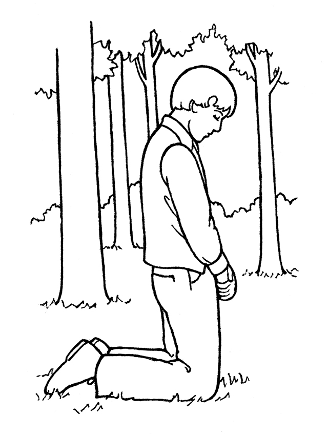 Lds clipart joseph smith. Praying in the sacred