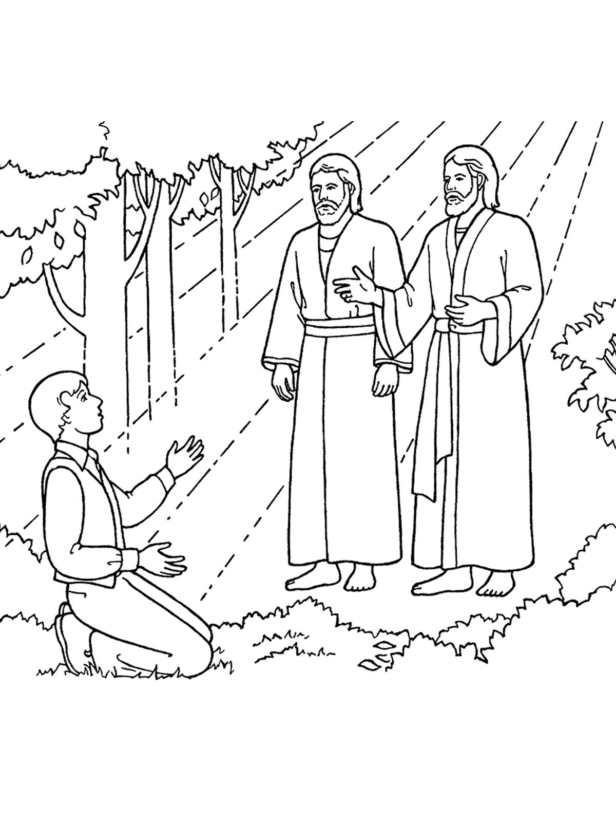 Lds clipart joseph smith. An illustration of seeing
