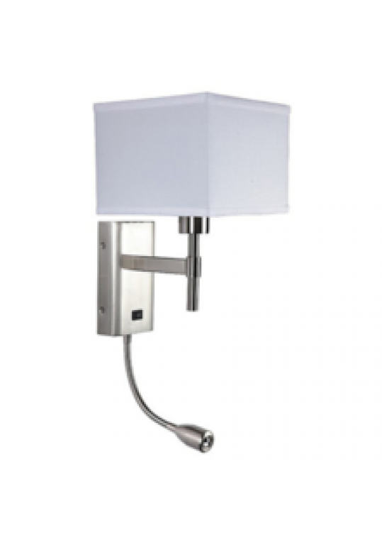 Lead drawing light shade. Hotel wall for bedside