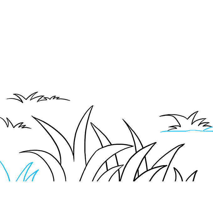 Lead drawing simple. How to draw grass