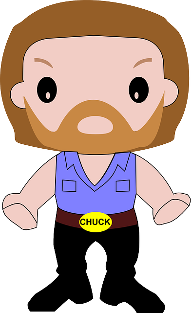 Chuck norris joins max. Leader vector clip freeuse