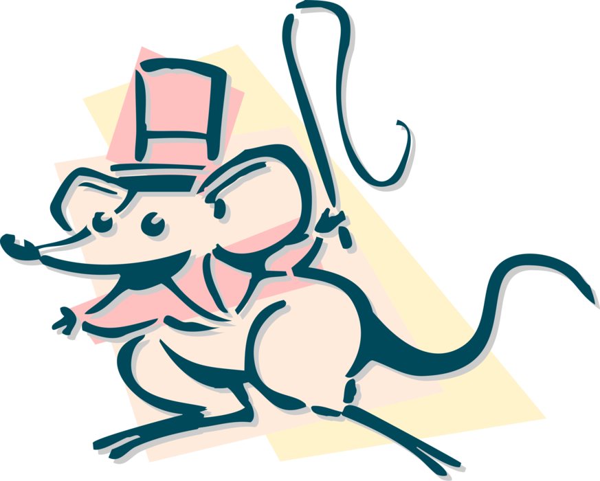 Leader vector big. Circus mouse ring image