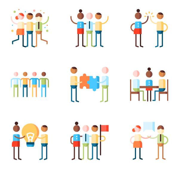 Leadership vector. Icons free teamwork