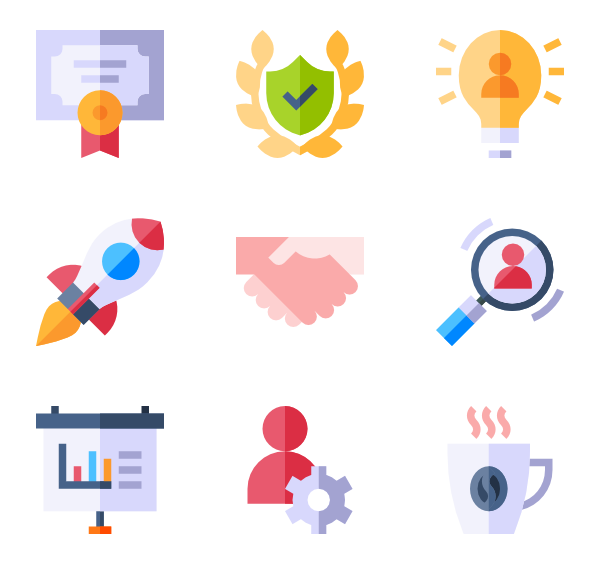Leadership vector. Icons free