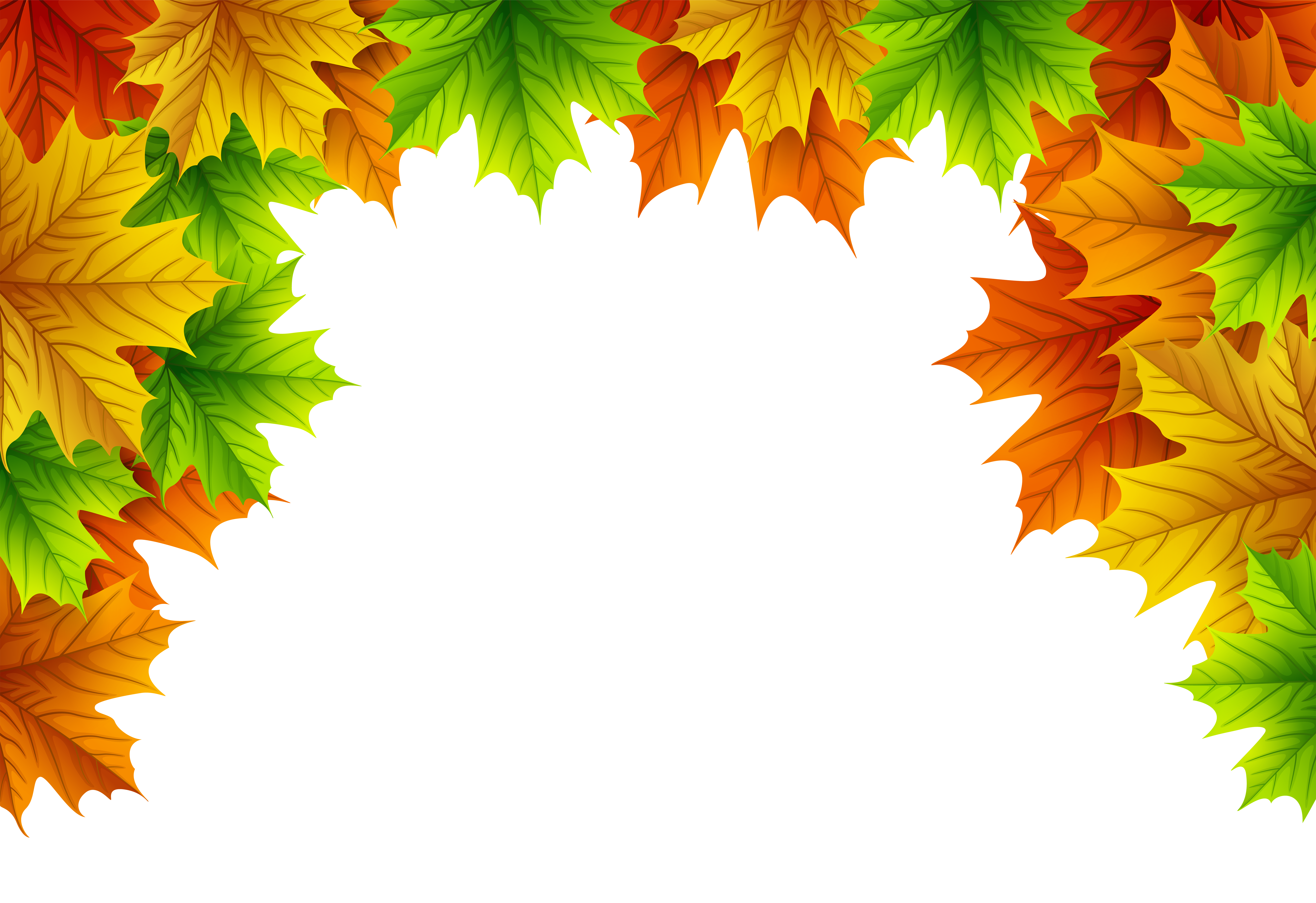 Fall leaves border png. Autumn decorative top image