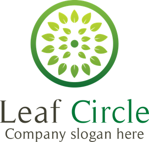 Leaf circle. Logo vector eps free