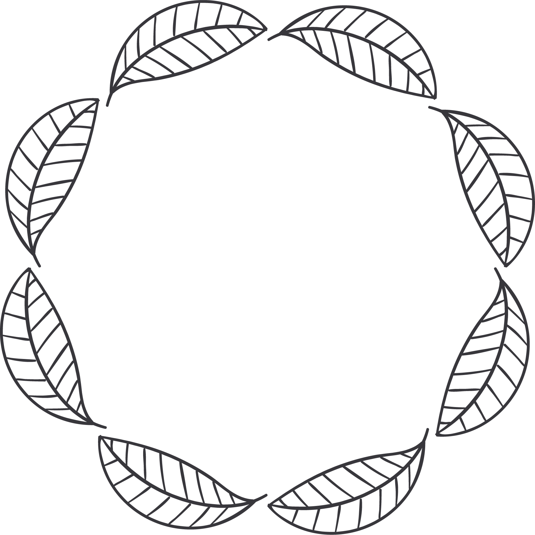 Leaf circle png. Disk clip art simple