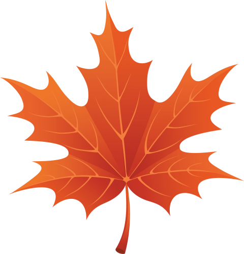 Leaf clipart. Download red autumn png