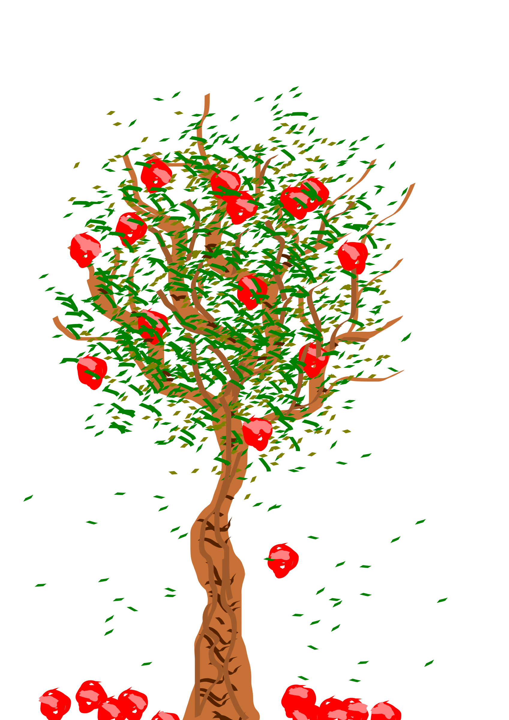 Leaf clipart apple tree. Big image png