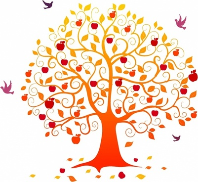 Leaf clipart apple tree. Vector free download for