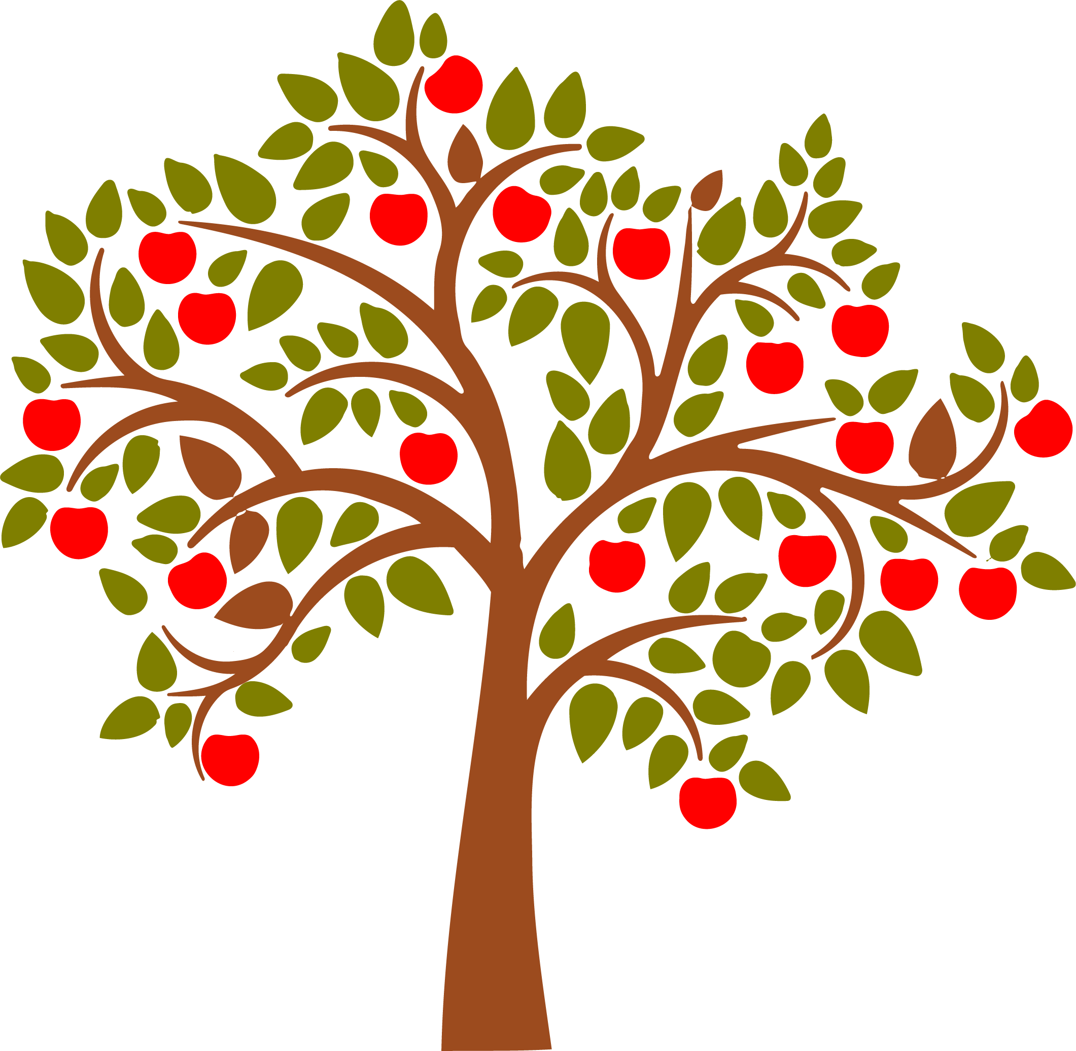 Leaf clipart apple tree. Isolated with leaves