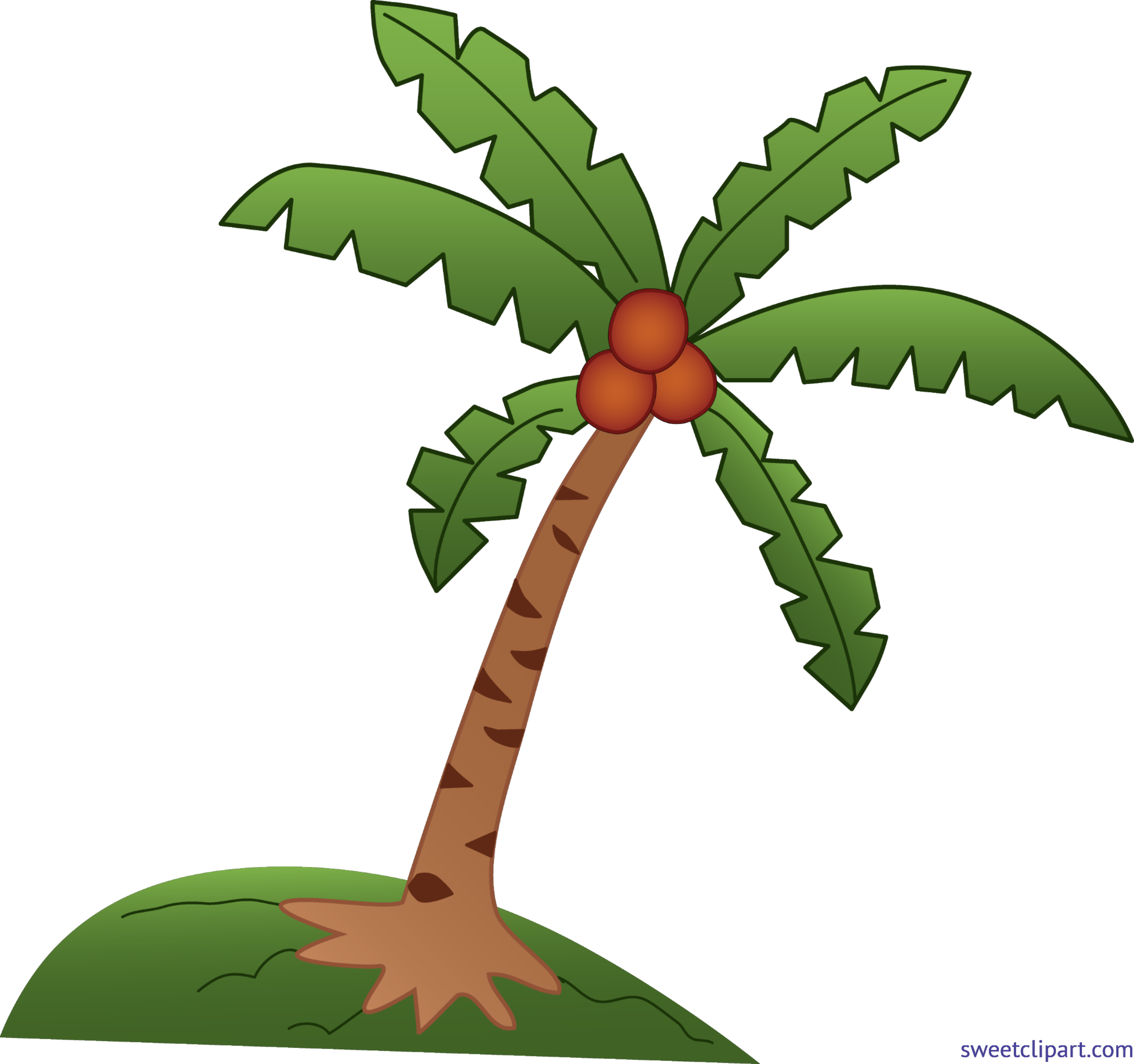 Tree clip art sweet. Coconuts vector coconut leaf royalty free