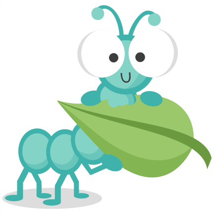 Caterpillar holding svg cutting. Leaf clipart insect picture freeuse download