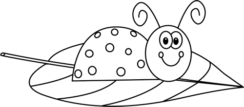 Black and white on. Leaf clipart ladybug clip transparent library