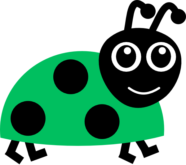Green . Leaf clipart ladybug picture free