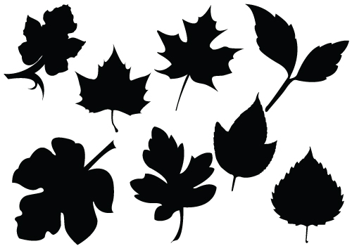 Free Leaf Silhouette Cliparts