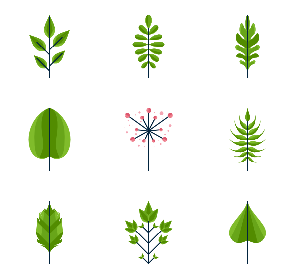Vector hd leaf. Icons free leaves