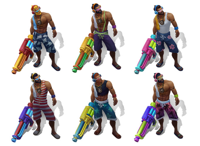 League of legends graves pool party png. Chroma now available get
