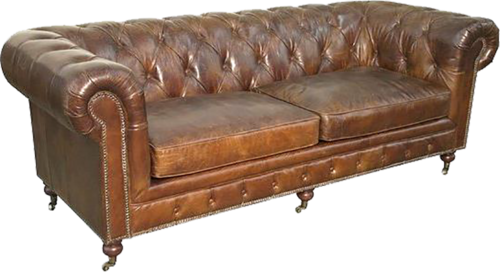 Leather couch png. Winston brown sofa event