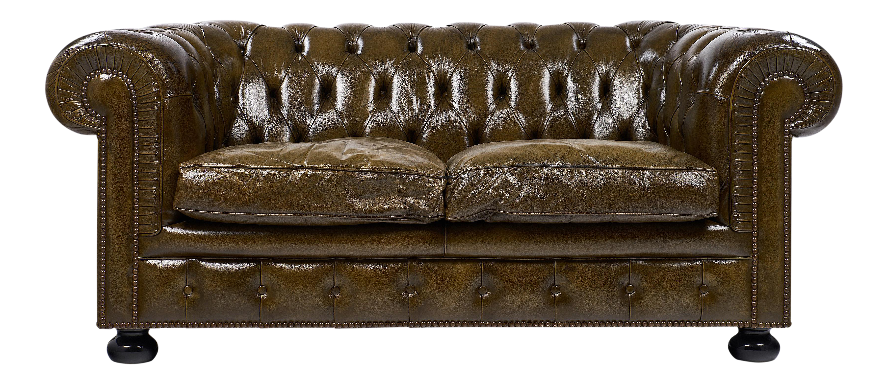 Leather couch png. Circa vintage english chesterfield