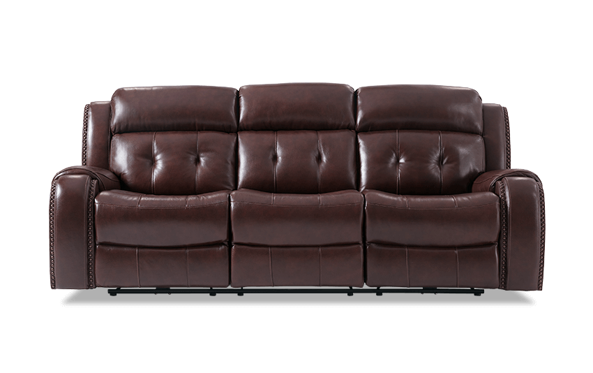 Leather couch png. Magellan power reclining sofa