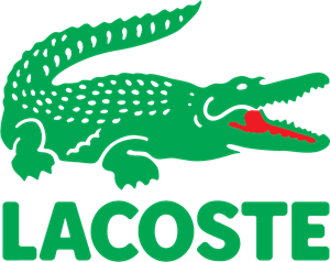 Leather vector crocodile. Lacoste logo eps free