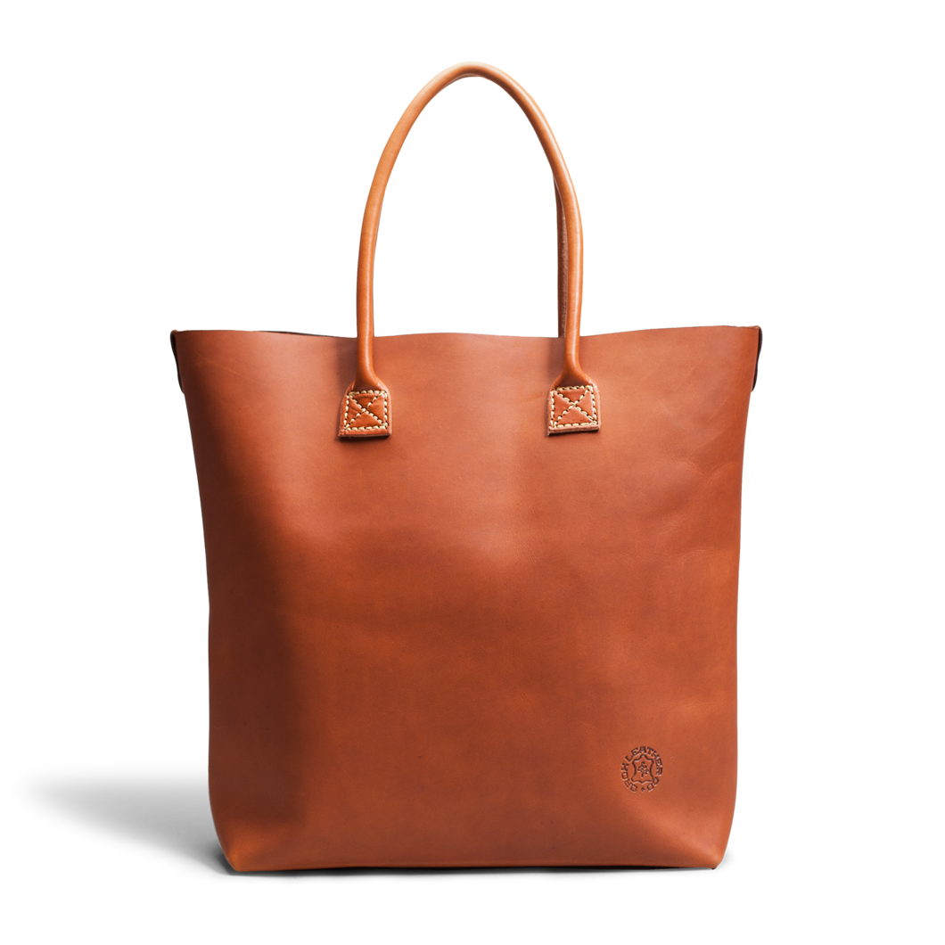 Leather vector goods. Merces tote tan orox