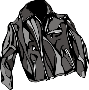 Jacket clip art at. Leather vector goods jpg black and white