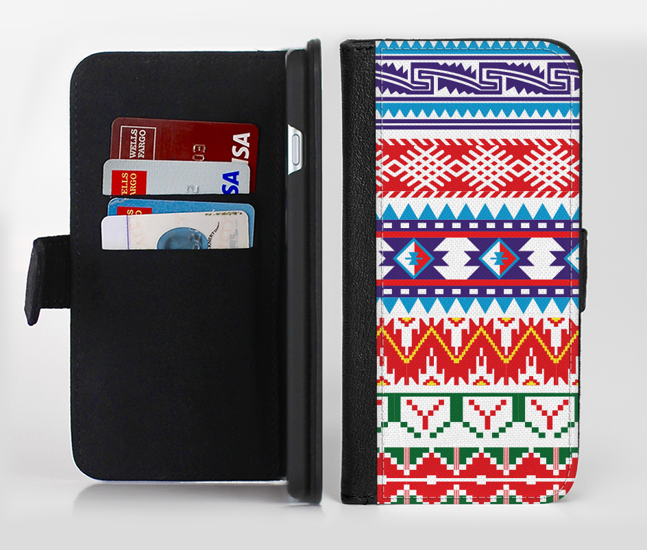 Wallet vector leather. The white blue red