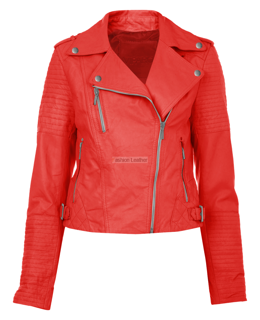 Leather vector red. Women jacket transparent images