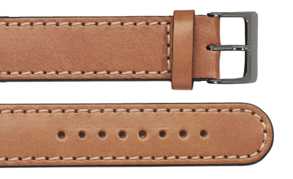 Stitches vector leather stitching. Tan calf with miang