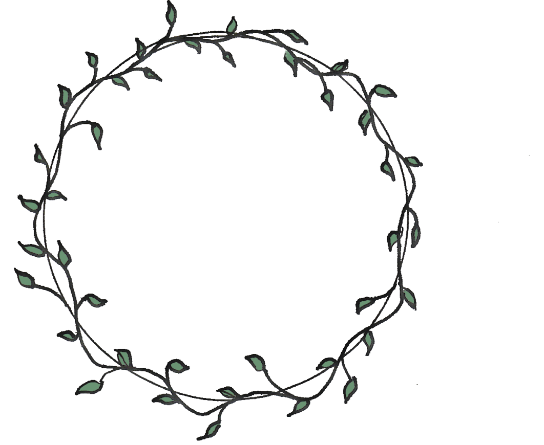 Leaves circle png. Flower drawing embroidery border