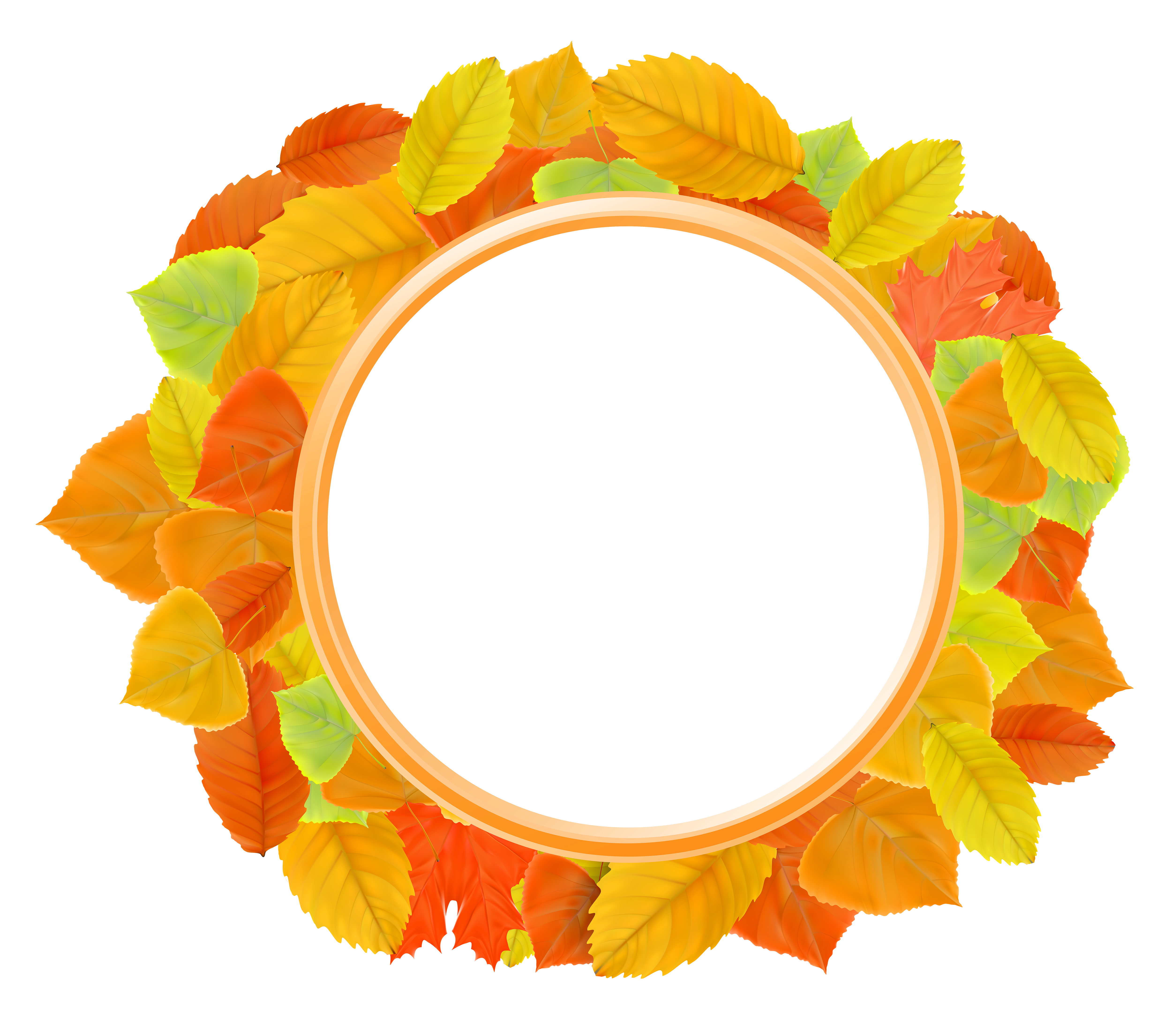 Leaves frame png. Autumn clipart image gallery