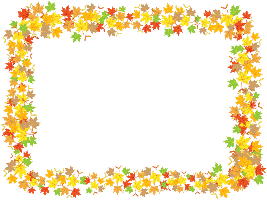 Leaves frame png. Maple by flashtuchka on