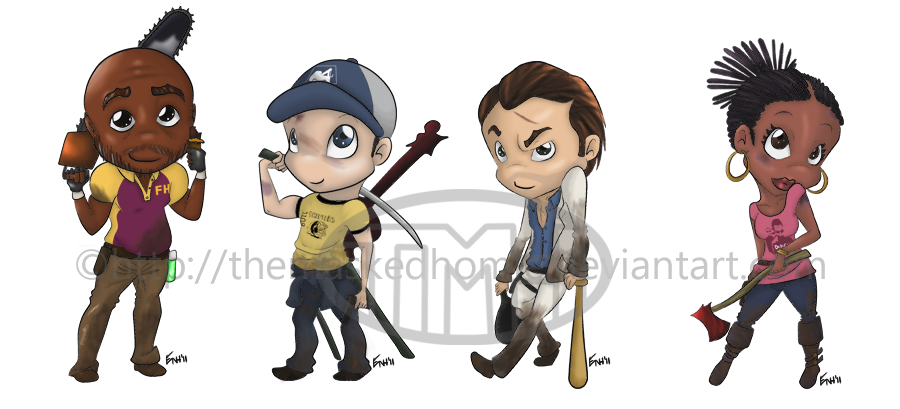 Left 4 dead 2 png. Chibi set by themaskedhomie
