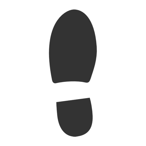 Right footprint png. Left image royalty free
