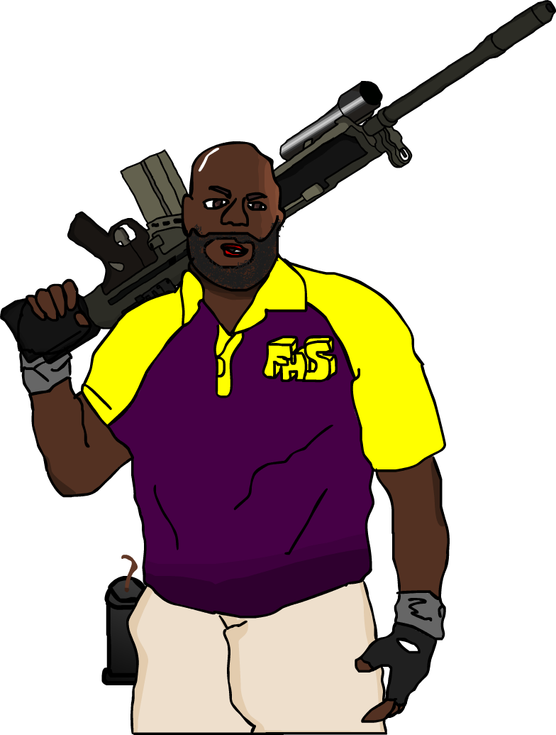 Left for dead 2 png. Coach in color by