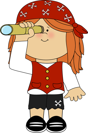 Pirate clipart scene. Clip art images girl