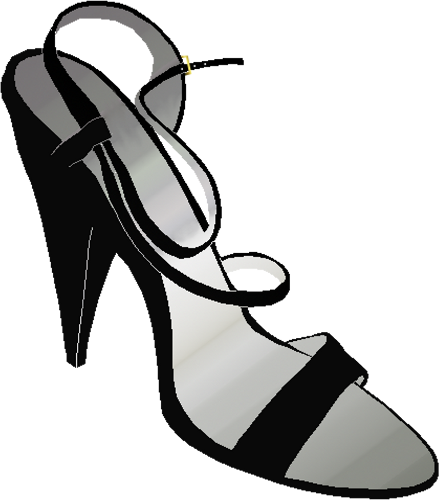 Leg vector high heel. Heeled shoe clipart free