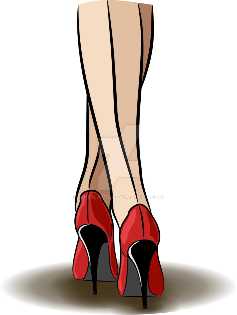 Leg vector high heel. Heels by mpihlamo on